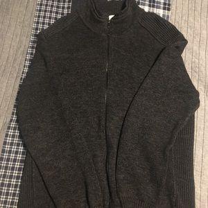 Dark Grey Thick Calvin Klein Zip Up Sweater